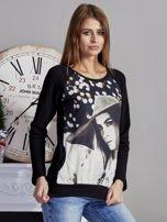 Bluza z fotoprintem czarna                                  zdj.                                  5