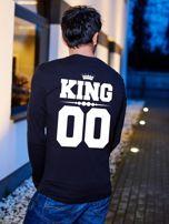Bluzka czarna męska z napisem z tyłu KING dla par                                  zdj.                                  1