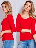 Bluzka czerwona z guzikami i koronką z tyłu                                  zdj.                                  1