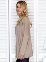 Bluzka damska oversize beżowa                                  zdj.                                  5