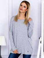 Bluzka damska oversize szara                                  zdj.                                  1