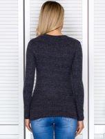 Bluzka damska prążkowana z długim rękawem ciemnoszara                                  zdj.                                  2