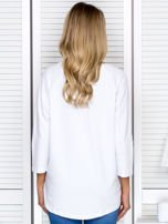 Bluzka damska z napisem biała                                  zdj.                                  2