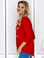 Bluzka damska z napisem czerwona                                  zdj.                                  5