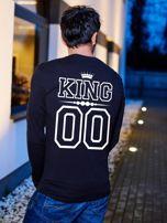 Bluzka męska z nadrukiem na plecach KING dla par czarna                                  zdj.                                  1