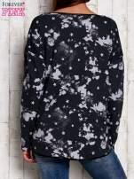 Bluzka w gwiazdki z kieszenią szara                                  zdj.                                  2