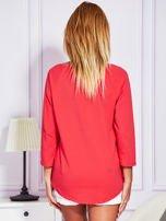 Bluzka z trampkami jasnoczerwona                                  zdj.                                  2