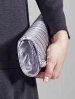 Błyszcząca elegancka kopertówka z dżetami srebrna                                  zdj.                                  8