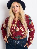 Bordowa bluzka plus size Spring                                  zdj.                                  5