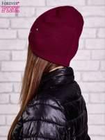 Bordowa czapka z metalowymi dżetami                                  zdj.                                  2