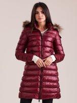 Bordowa damska kurtka zimowa                                  zdj.                                  1