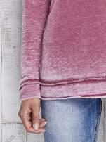Bordowa dekatyzowana bluza z surowym wykończeniem