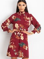 Bordowa sukienka Supply                                  zdj.                                  5