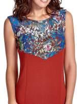 Bordowa sukienka z kwiatową koronką                                  zdj.                                  5