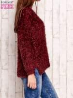 Bordowy sweter long hair                                  zdj.                                  3