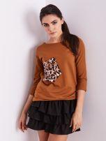 Brązowa bluzka z motywem zwierzęcym                                  zdj.                                  11