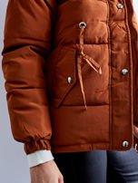 Brązowa kurtka zimowa pikowana                                  zdj.                                  10