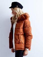 Brązowa kurtka zimowa pikowana                                  zdj.                                  8