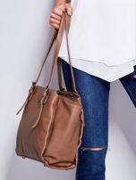 Brązowa miękka torba w miejskim stylu                                  zdj.                                  5