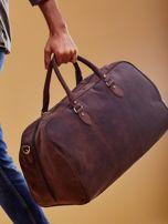 Brązowa skórzana męska torba podróżna                                  zdj.                                  9