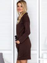 Brązowa sukienka z wstążkami                                   zdj.                                  5