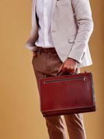 Brązowa torba aktówka męska z odpinanym paskiem                                  zdj.                                  6