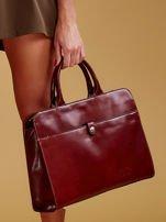 7e1feb5c522b09 Brązowa torba damska ze skóry w miejskim stylu - Akcesoria torba ...