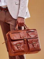 Brązowa torba męska z odpinanym paskiem                                  zdj.                                  11