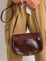 Brązowa torebka ze skóry naturalnej                                  zdj.                                  3