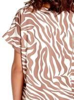 Brązowa tunika ze wzorem zebry                                  zdj.                                  6