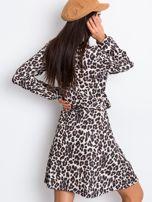 Brązowo-czarna sukienka Shock                                  zdj.                                  2