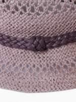 Brązowy damski kapelusz kowbojski z ciemną plecionką                                  zdj.                                  9