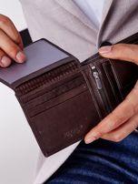 Brązowy miękki portfel męski skórzany                                  zdj.                                  3