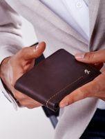 Brązowy miękki portfel męski skórzany                                  zdj.                                  4