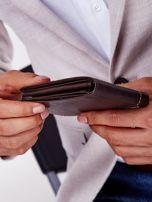 Brązowy miękki portfel męski skórzany                                  zdj.                                  5