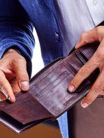 Brązowy portfel dla mężczyzny z tłoczeniem                                  zdj.                                  3
