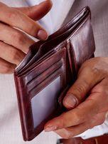 Brązowy portfel męski ze skóry naturalnej                                  zdj.                                  2