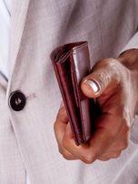 Brązowy portfel męski ze skóry naturalnej                                  zdj.                                  4