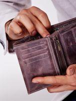 Brązowy prostokątny portfel męski                                  zdj.                                  2