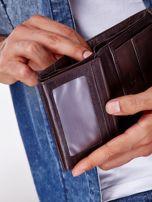 Brązowy rozkładany portfel ze skóry                                  zdj.                                  3