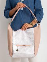 Brudnoróżowa damska torba z ekoskóry                                  zdj.                                  1