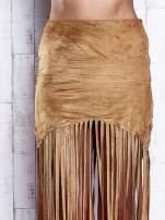 Czarna zamszowa spódnica z frędzlami                                                                          zdj.                                                                         4