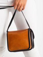 Camelowo-czarna damska torebka                                  zdj.                                  4