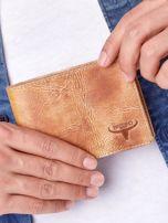 Camelowy portfel męski ze skóry naturalnej                                  zdj.                                  1