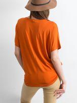 Ceglasta bluzka Oversize                                  zdj.                                  2
