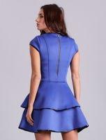 Chabrowa rozkloszowana sukienka                                   zdj.                                  2