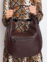 Ciemnobrązowa torba z suwakami                                  zdj.                                  2