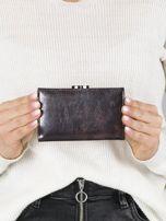 Ciemnobrązowy mały portfel skórzany na bigiel                                  zdj.                                  3