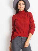 Ciemnoczerwony sweter Milo                                  zdj.                                  1