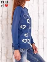 Ciemnoniebieska bluza w serduszka                                  zdj.                                  3